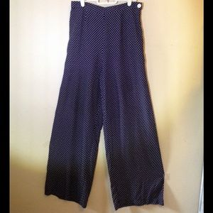 High rise polka dot rayon pants Gap sz. 8